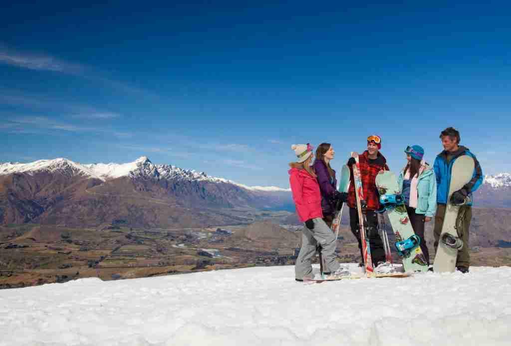 Friends Snowboarding at Coronet Peak