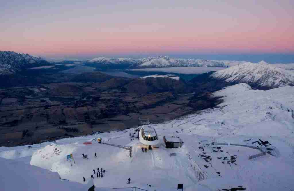 Ski Lift at dawn in Coronet Peak