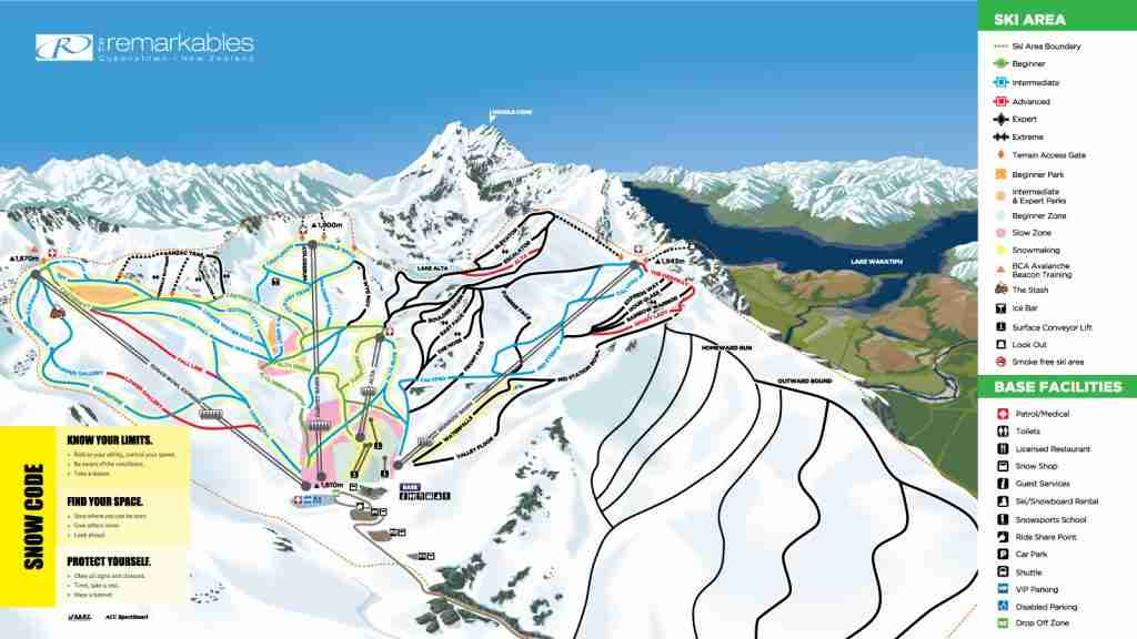 The Remarkables trail map