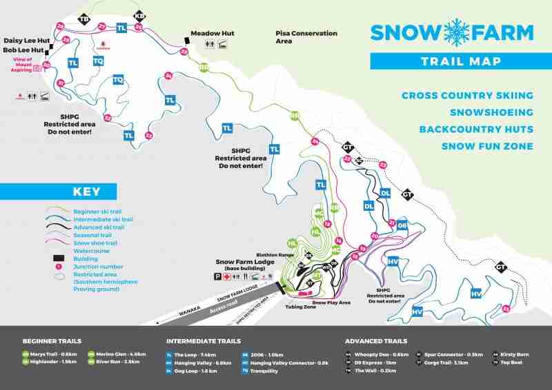 snow farm trail map